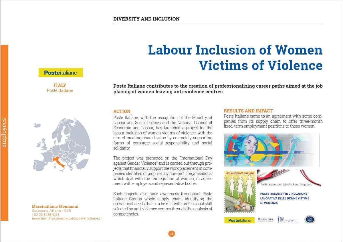PosteItaliane_Inclusione lavorativa donne violenza_foto01